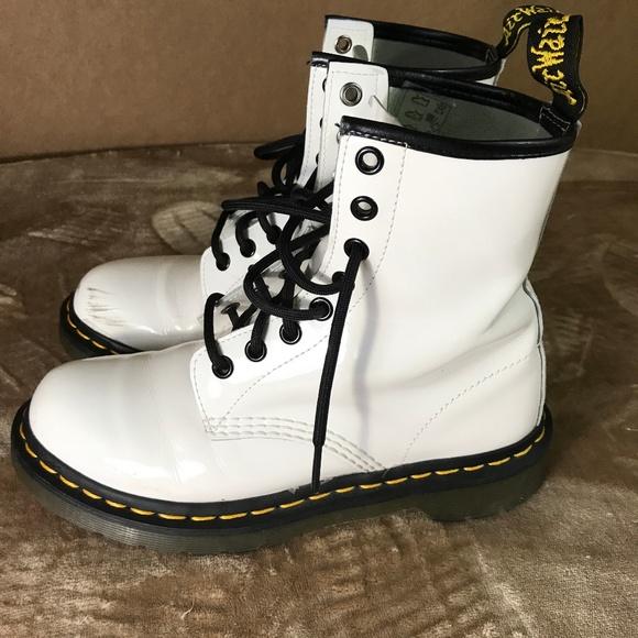 7ba11d3b063 Dr. Martens Shoes -  Dr Martens Airwair White 1460 8 eye boots M41